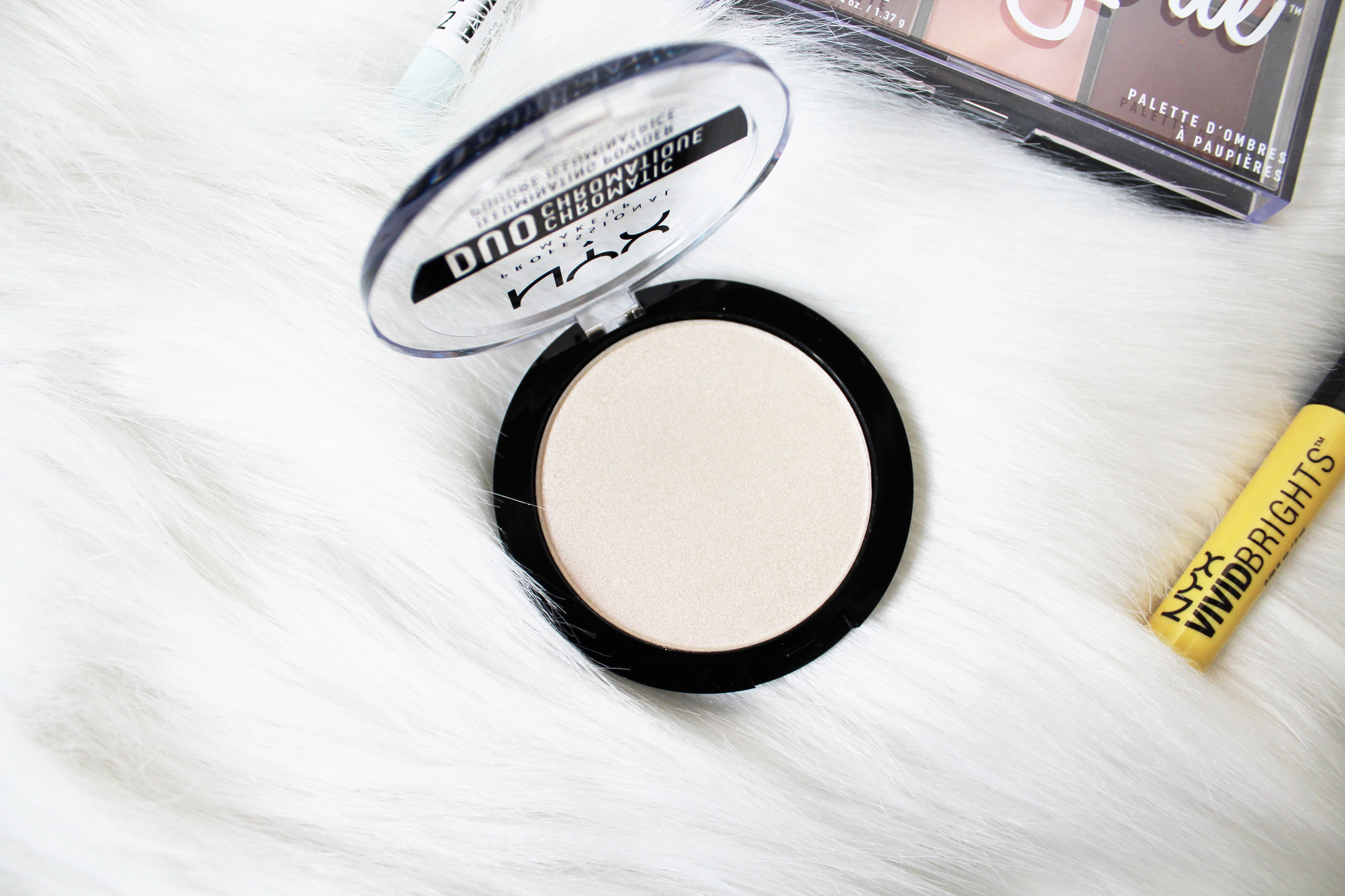 NYX Cosmetics Haul: DUO CHROMATIC ILLUMINATING POWDER Snow Rose