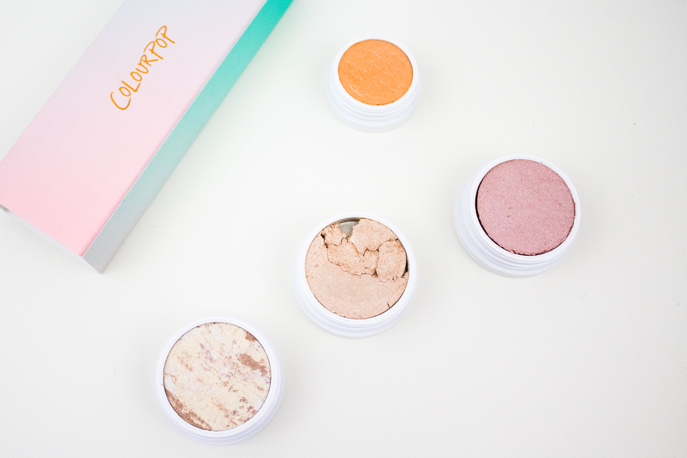 ColourPop Waffle Highlighter trio, Fillper super shock shadow